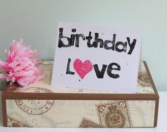 Birthday Card, Birthday Love Greeting Card