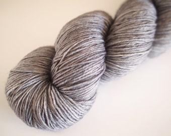 Merino-nylon sock yarn hand dyed Basalt