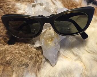 Golden cat eye sunglasses