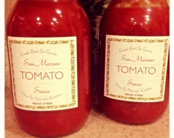 Fresh Homemade San Marzano Pasta Sauce