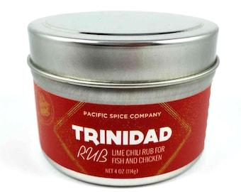 Trinidad BBQ Rub with Lime and Chile - Seasoning - 2.4 oz (114g) BBQ or Marinade Gift