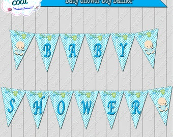 Boy Baby Shower Banner / Baby Shower Boy Decoration / Decoration Letters