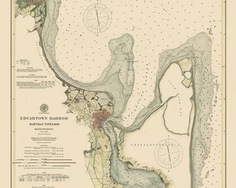 Edgartown Nautical Chart 1894
