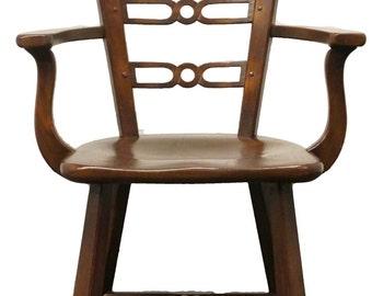 ROMWEBER Viking Oak Horse Head Arm Chair 5-1681