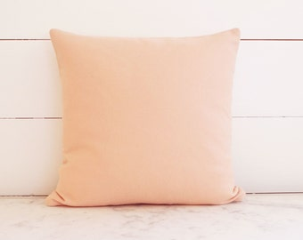 Pastel Pale Pink Wool Modern Nursery Baby Girl Pillow Cover 16x16
