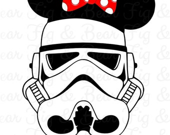 Minnie Mouse Storm Trooper Star Wars Personalized Shirt Iron On Transfer Personalized Free