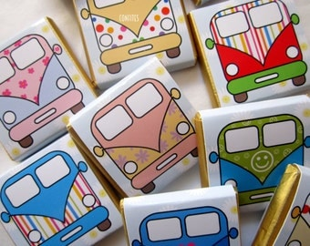 Personalised Chocolates Camper Van party favour birthday