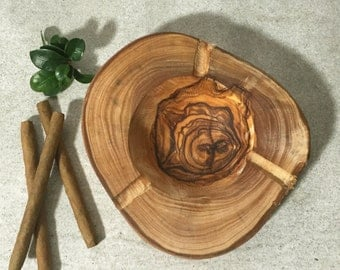 Ash Tray Olive Wood, Rustic Ashtray, Massive Olive Wood, Gift for Him, Gift Idea, Hand Carved Ash Tray