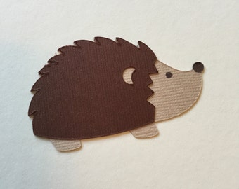 Hedgehog Woodland Critter Cupcake Topper/Food Pick - 6 Count