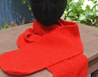 woollen scarf purple/red