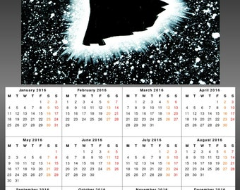 2016 Wall Calendar - Vader Silhouette