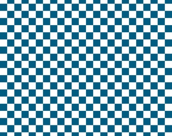 Ocean Blue Checkered Cardstock Paper