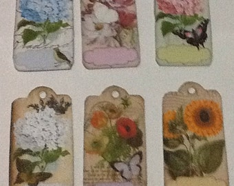 6 Flower Tags