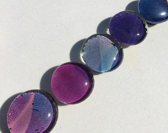 Deep Violet theme glass bead magnets