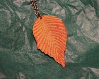 orange leaf necklace