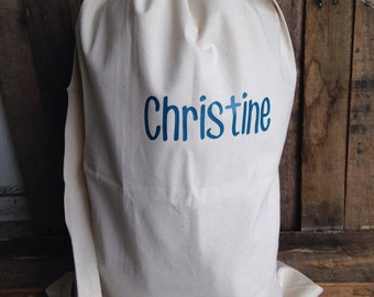 Personalized Laundry Bag College Laundry Bag Large Canvas Laundry Bag Camping Bag