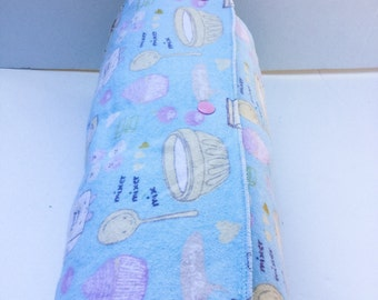 Unpaper Towels / Snapkins / Reusable Paper Towels / Paperless Towels / Kitchen Towels / Burp Cloths, set of 12 Cute Baking Print