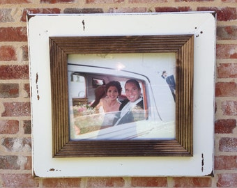 Large 16x20 distressed picture frame.