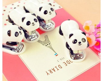 Mini PANDA stapler with its Staples No. 10 Pack
