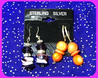 "Jewelry handmade ""ReaLsemipres.Stones""Earring sets,ALLstamped 925 sterling! alike sell4 60.00/90.00"