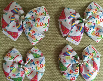 Birthday Hair Bows