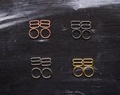 """4 Sets 3/8"""" Silver Gold Rosegold Gunmetal Metal Bramaking Rings & Sliders"""