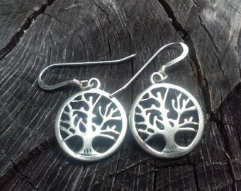 Sterling Silver Tree of Life, Tree of Knowledge Earrings