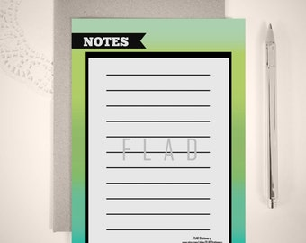 Digital or Printed Notepad or Loose Writing Sheets/ 5x7 Notepads/ Modern Notepads/ Notepads/ FS#0012