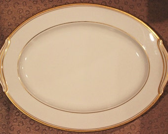 Noritake China Platter Noritake Goldart Platter Noritake Platter Fine China Gold Gild Trim 11-7/8 Inches Vintage China Excellent Condition