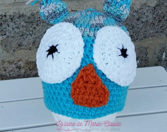 Tuque turquoise size OWL teenager/small adult available immediately