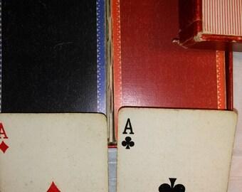Russell New York Playing Cards Set of 2 Decks - Retro Gladstone ,Vintage  Repurposing Scrap Booking