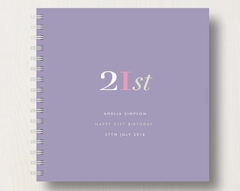 Personalised 21st Birthday Memories Book or Album
