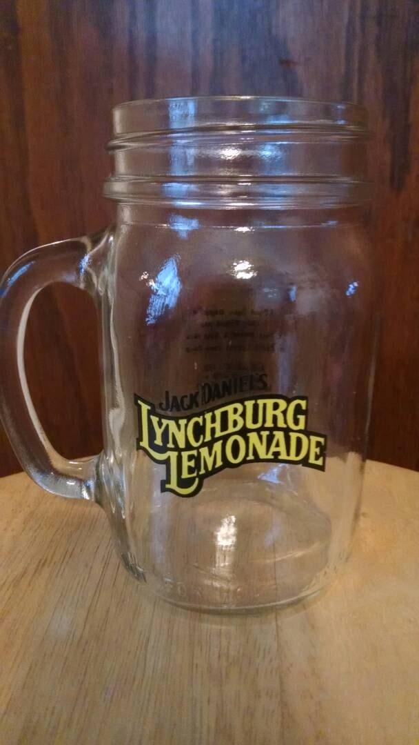 vintage jack daniels lynchburg lemonade collectable glass