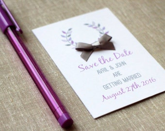Print at home Save the Date card