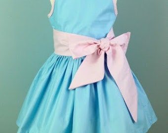 Summer Dress in Sky Blue & Pink (other colours available) UK