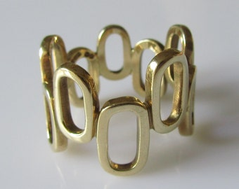 Large 9ct Gold Modernist Geometric Ring