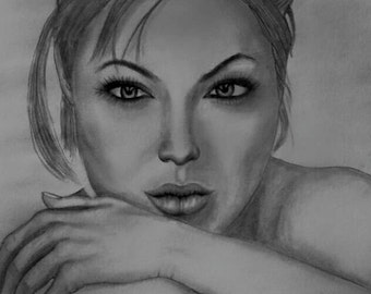 Angelina Jolie Digital Drawing Portrait