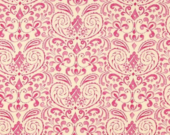 Elegant 10.25 Yard   Free Spirit Damisk Kumari Garden   DF97 Pink   Marala By Dena  Fishbein