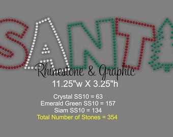 Instant Download Rhinestone Design Santa Tree