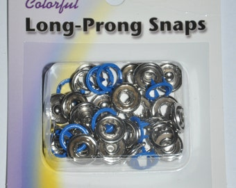 Package of Snap Source Long Prong Snaps for Scrubs -  Color - Royal blue - Size 16 Open Prong Ring - 10 Sets