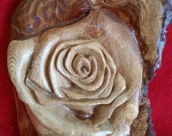 Sequoia Redwood Hand Carved Rose