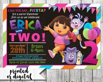 Dora the Explorer Invitation, Dora the Explorer Birthday, Dora the Explorer Party Invitation, Dora the Explorer Invite, Dora Invitation