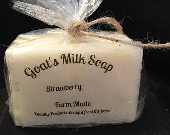 Strawberry Goat Milk Soap