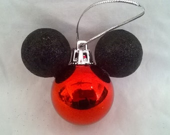 Tiny Mickey Mouse Christmas Ornament Handmade Ready to Ship Birthday Party Favor Fish extender gift Mickey mouse favor disney cruise line