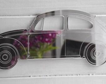 Detailed Engraved Handmade VW Beetle (Herbie) 1963 Car Acrylic Mirror