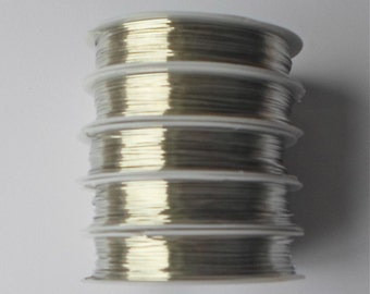5 x Silver Beading Craft Copper Wire Jewellery Tiara Finding 0.5mm