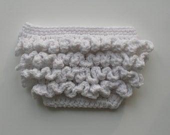 Crochet Ruffle Diaper Cover