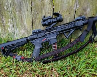Paracord rifle sling - multi point, adjustable