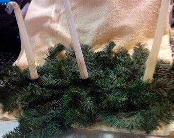 Candle Holder, Evergreen, 3 Candle