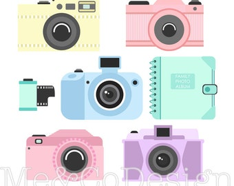 Camera Clipart, Fun Clipart, Accessory Clipart Instant Download, Personal and Commercial Use Clipart, Digital Clip Art